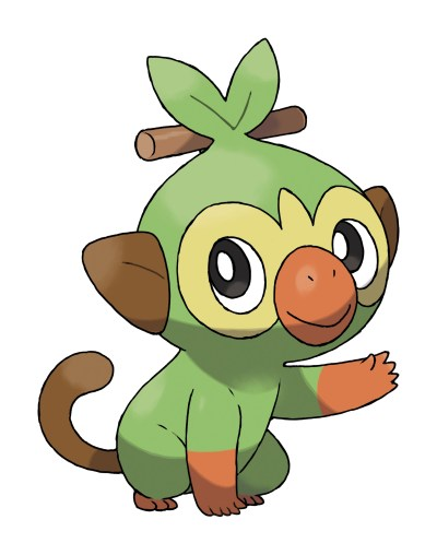 Grookey Official Artwork