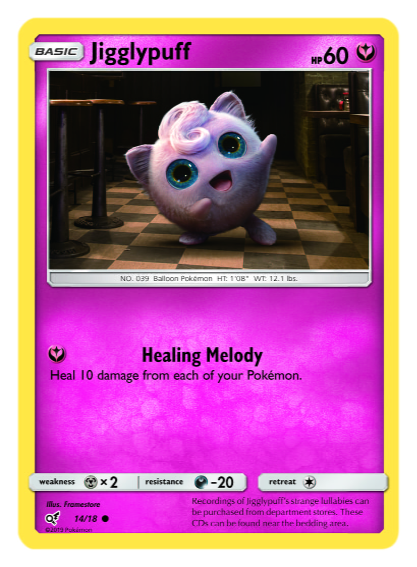 Jigglypuff Card Pokémon TCG Detective Pikachu