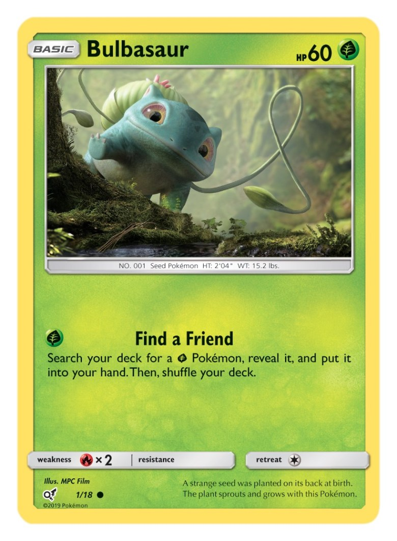 Bulbasaur Card Pokémon TCG Detective Pikachu Collection