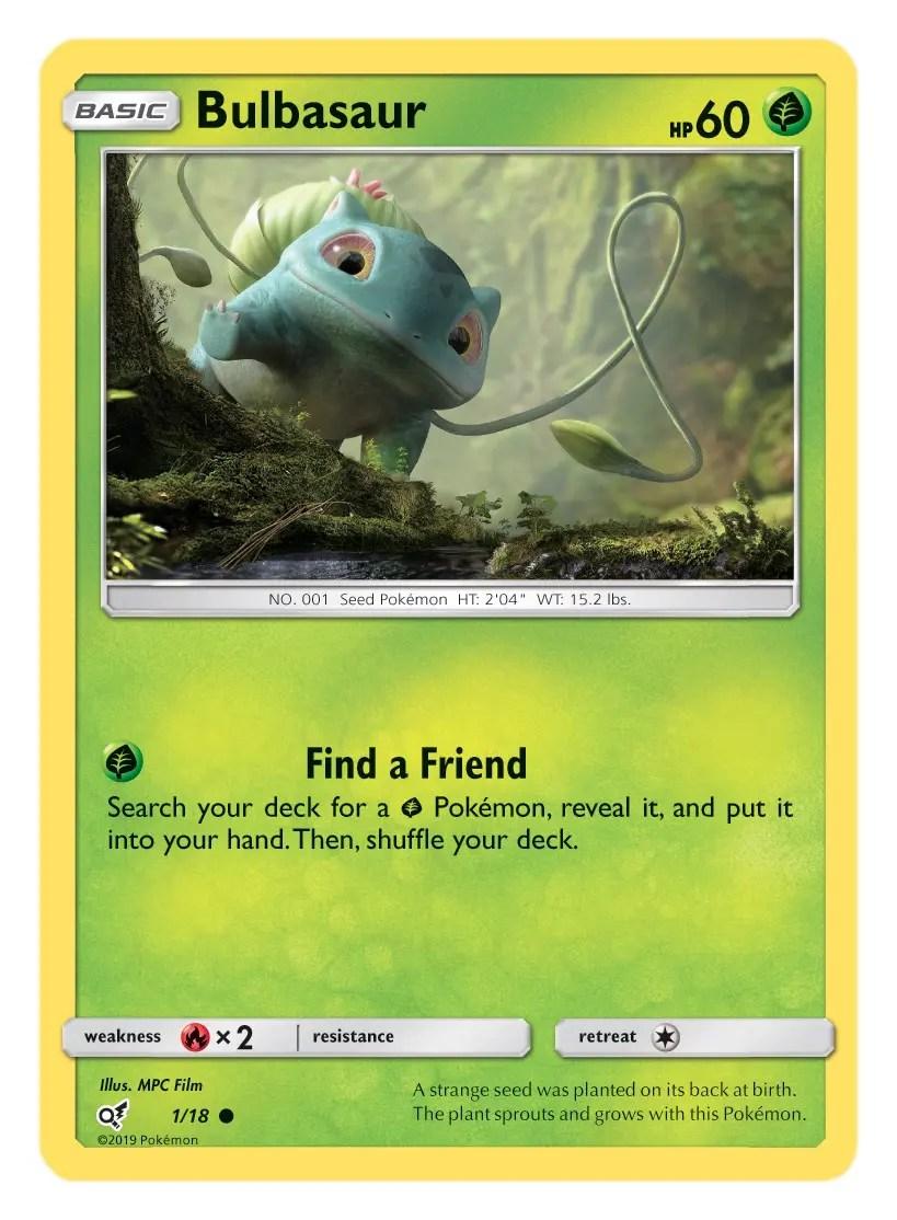 Bulbasaur Card Pokémon TCG Detective Pikachu Collection