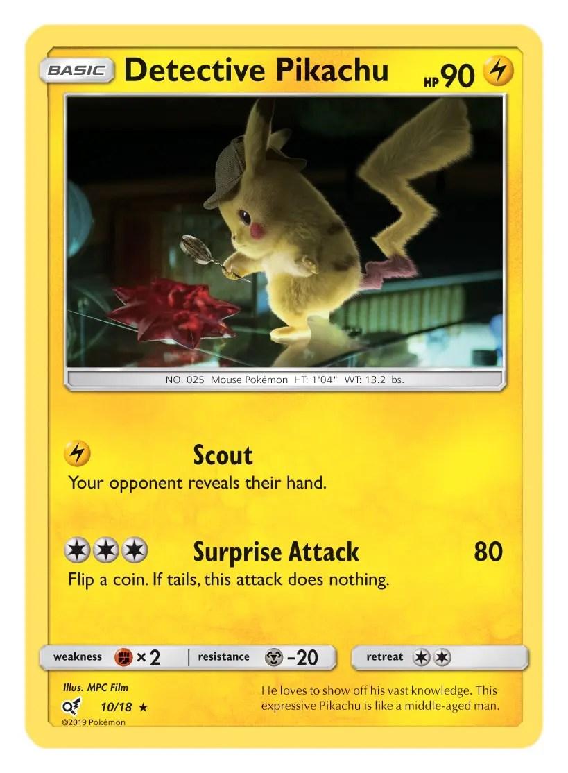 Detective Pikachu Card Pokémon TCG Detective Pikachu Collection