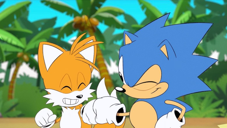 Sonic And Tails Fist Bump Screenshot