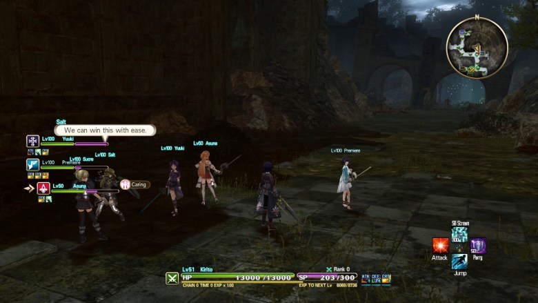 Sword Art Online: Hollow Realization Deluxe Edition Switch Screenshot 1