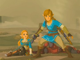 Link Protects Zelda Breath of the Wild Screenshot