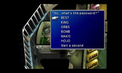 Final Fantasy 7 Mayor's Password Screenshot