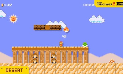 Super Mario Maker 2 Desert Screenshot