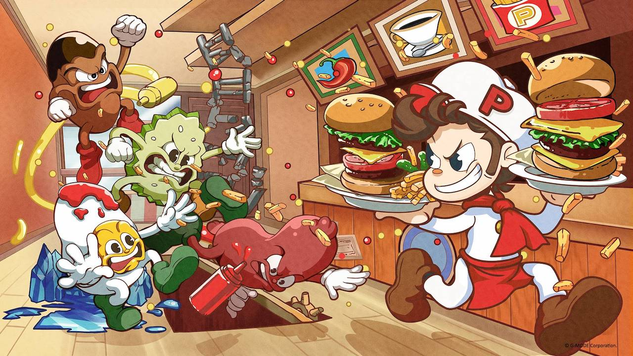 BurgerTime Party! E3 2019 Key Art