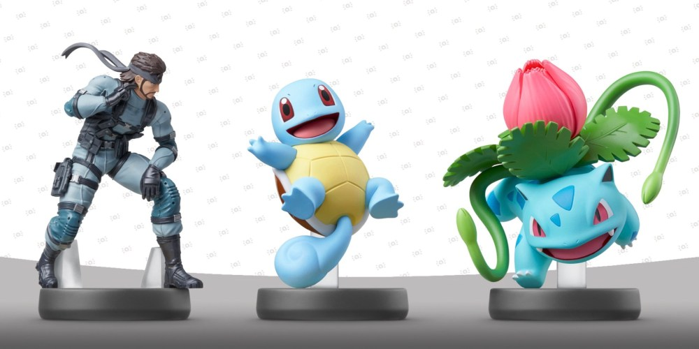 Snake, Ivysaur and Squirtle amiibo Photo