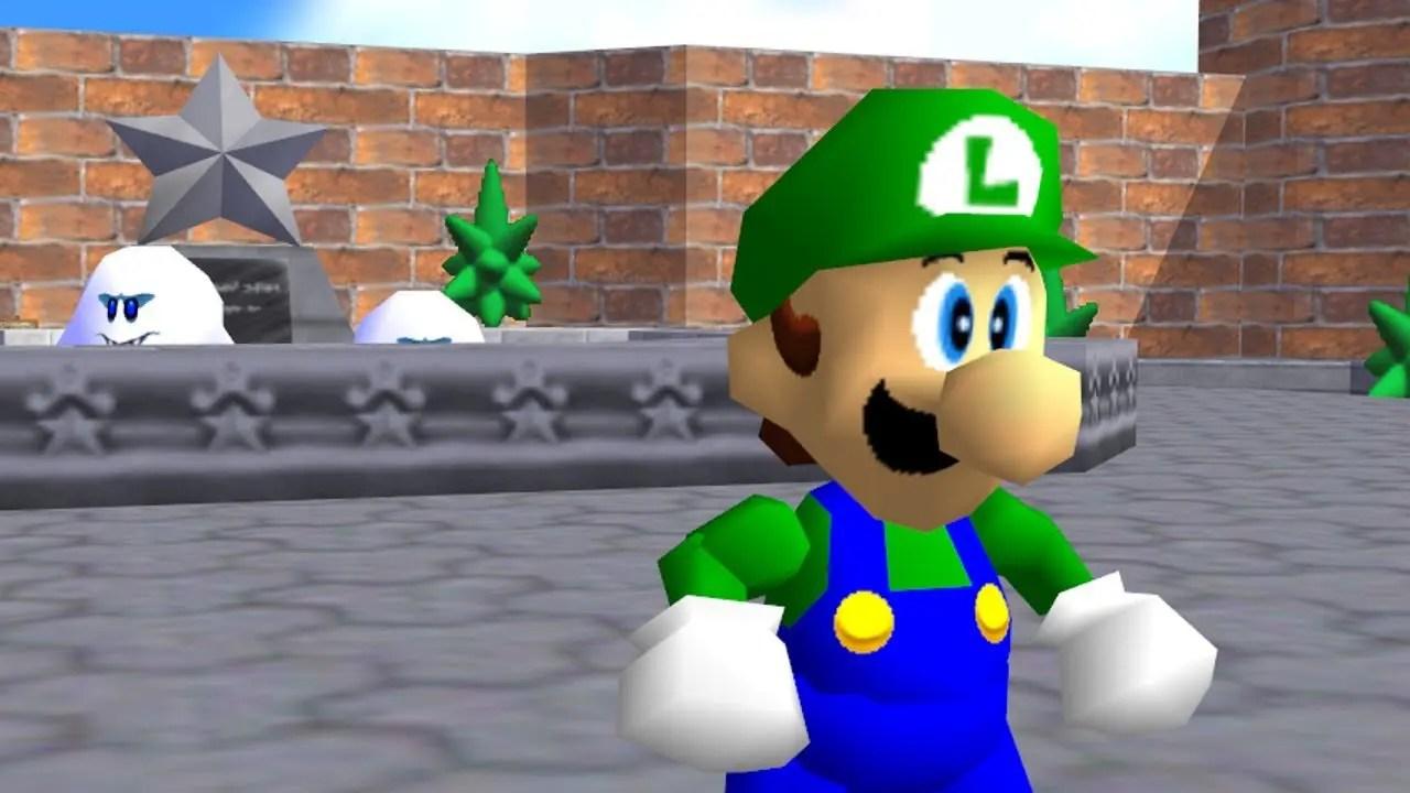 Luigi Super Mario 64 Screenshot