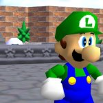 Luigi Super Mario 64 Screenshot
