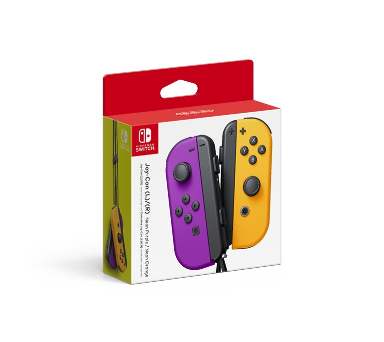 Neon Purple/Neon Orange Joy-Con Pair Photo