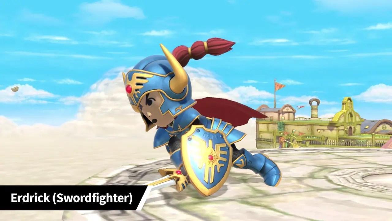 Super Smash Bros. Ultimate Erdrick Mii Fighter Costume Screenshot