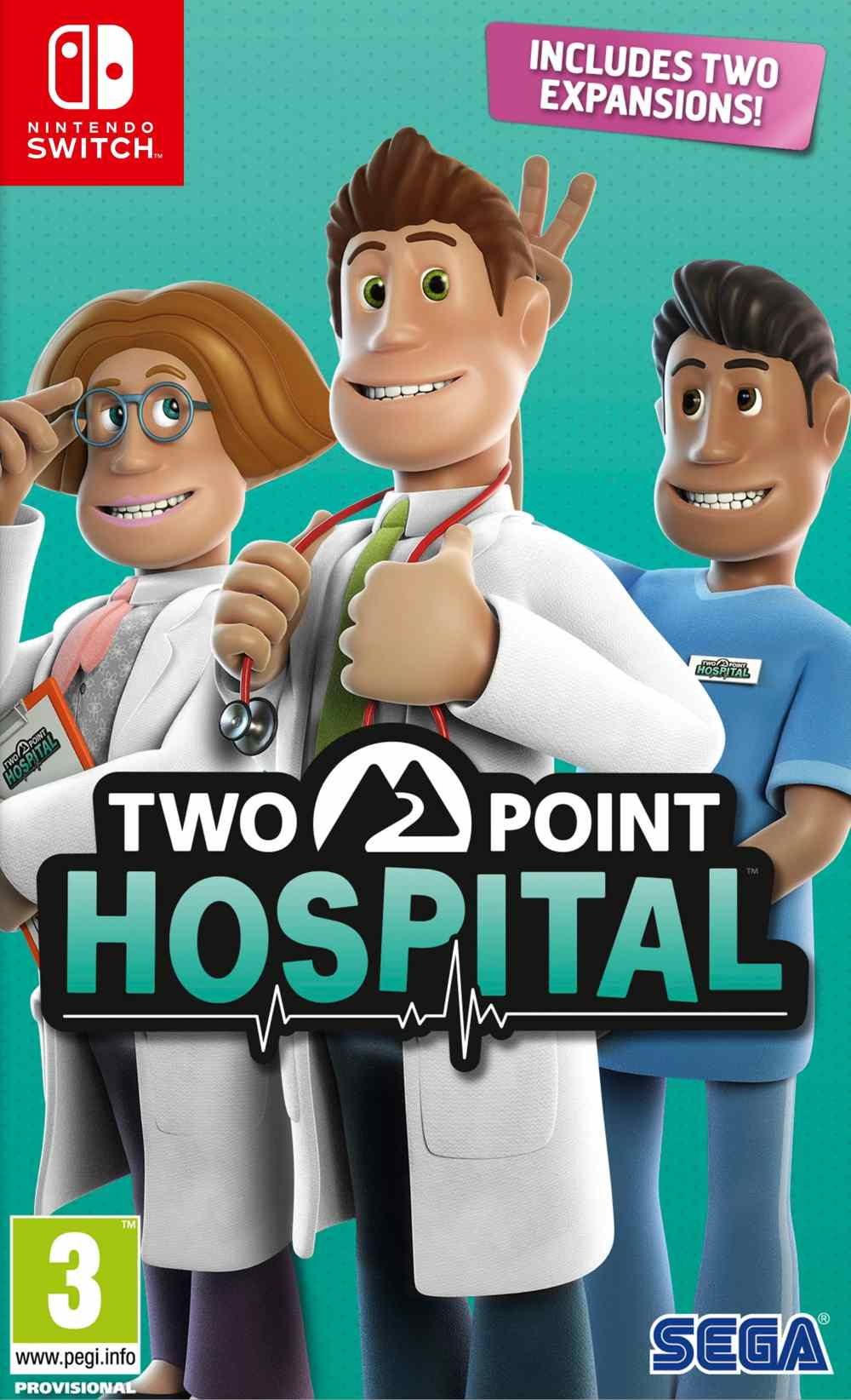 Two Point Hospital Nintendo Switch Box Art