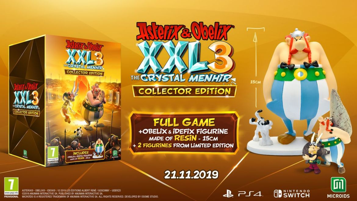 Asterix and Obelix XXL3: The Crystal Menhir Collector Edition Photo