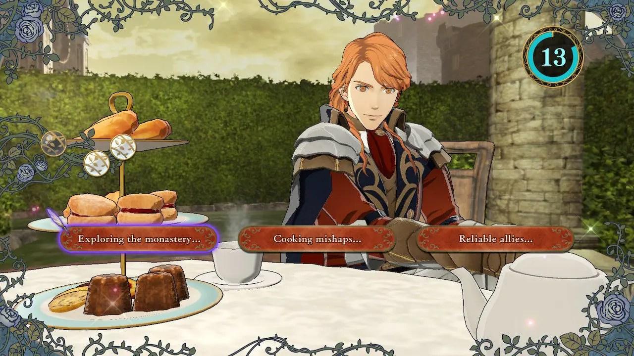Fire Emblem: Three Houses Tea Time Screenshot