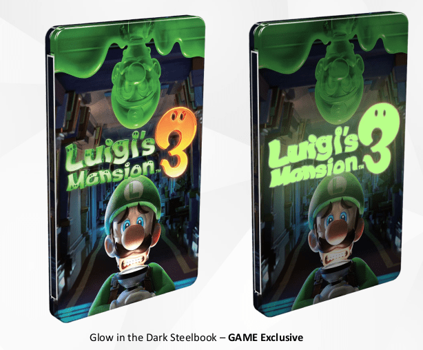 Luigi's Mansion 3 SteelBook Case Photo
