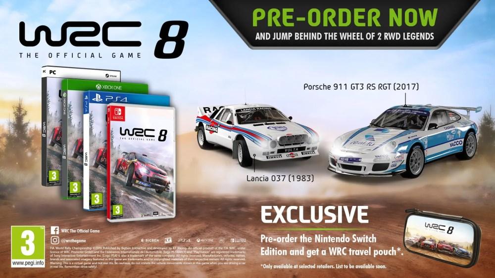 WRC 8 Digital Pre-Order Bonuses Image