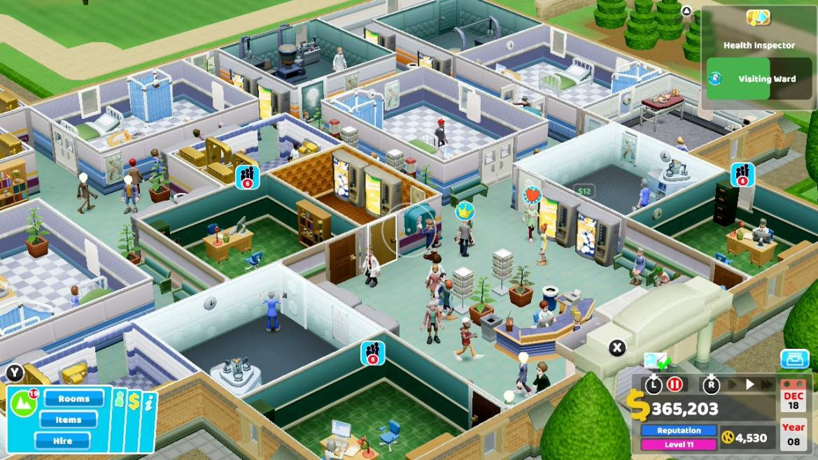 Two Point Hospital Review Screenshot 1