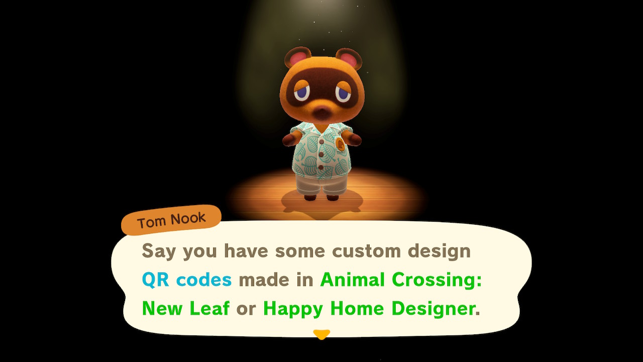 Animal Crossing New Horizons QR Codes Screenshot