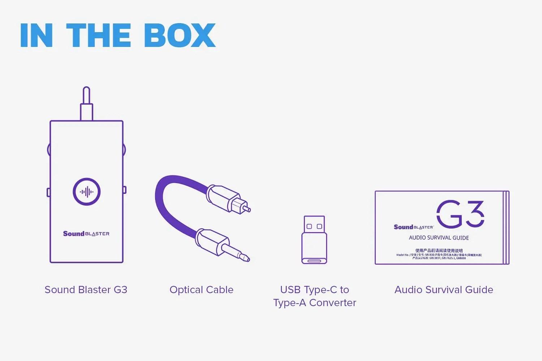 Sound Blaster G3 Box Contents Image