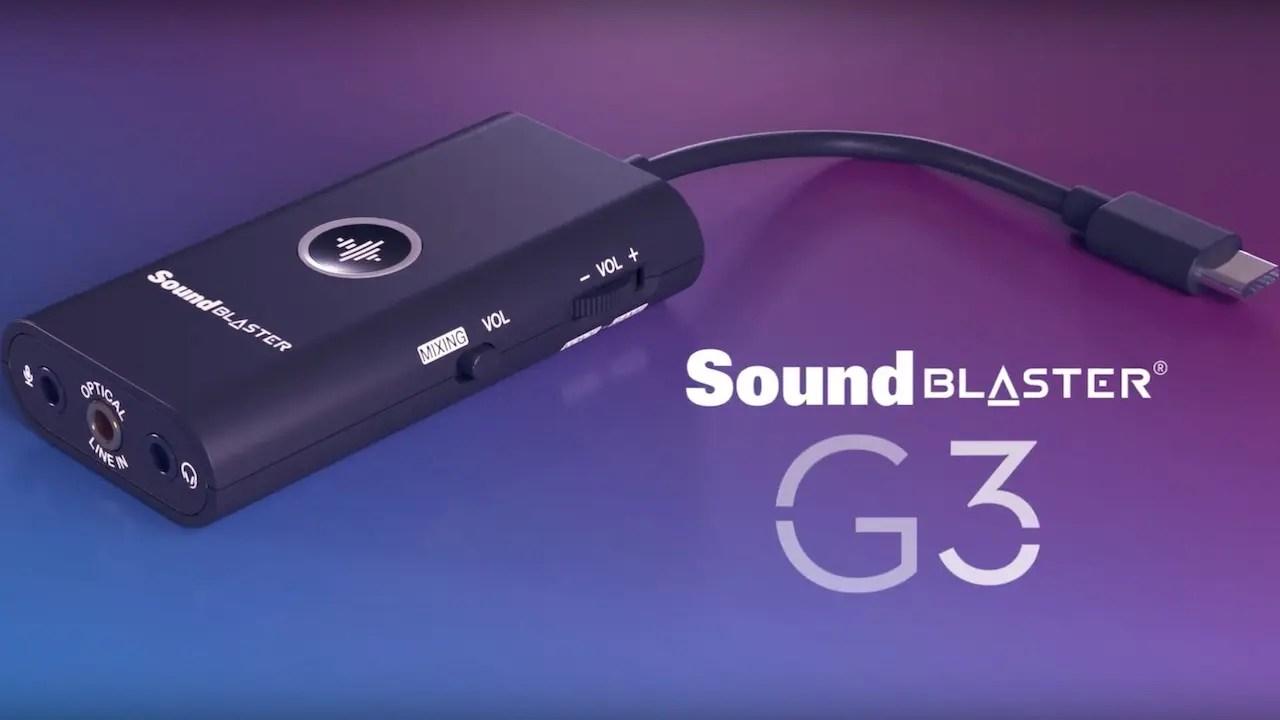 Sound Blaster G3 Review Header