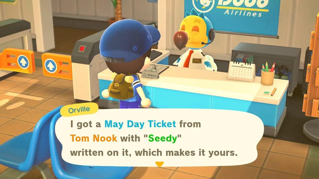 Animal Crossing New Horizons May Day Ticket Screenshot 2