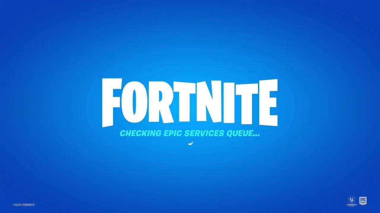Fortnite Event Checking Epic Services Queue Screenshot