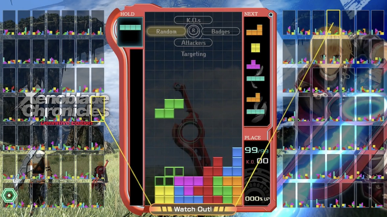 Tetris 99 Xenoblade Chronicles: Definitive Edition Theme Screenshot