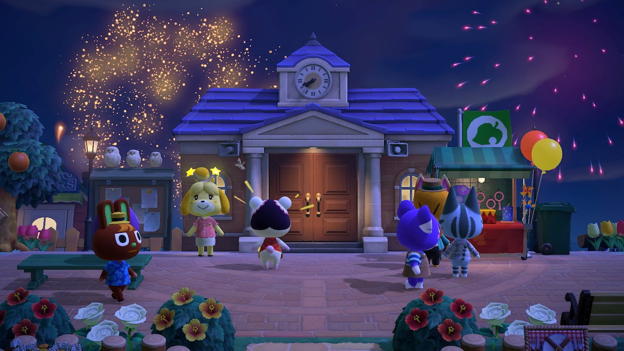 Animal Crossing: New Horizons Firework Screenshot