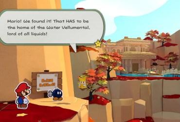 Paper Mario: The Origami King Water Vellumental Shrine Screenshot