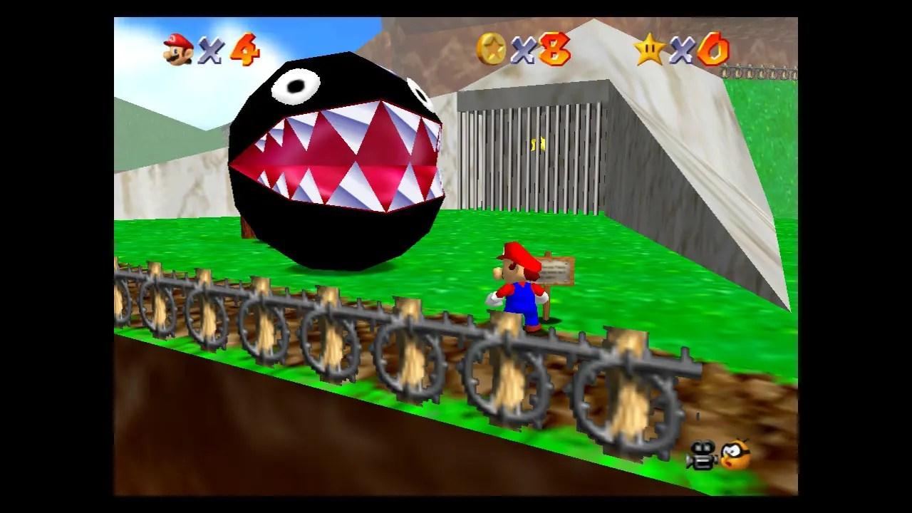 Super Mario 64 Chain Chomp Screenshot