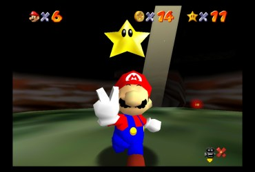 Super Mario 64 Hazy Maze Cave Screenshot 1