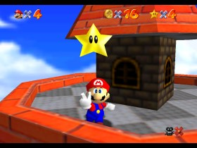 Super Mario 64 Whomp's Fortress Screenshot 1