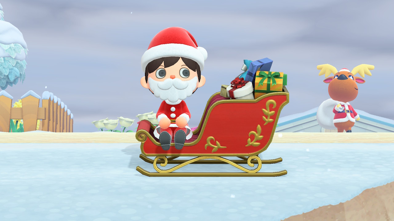 Animal Crossing: New Horizons Toy Day Sleigh Screenshot