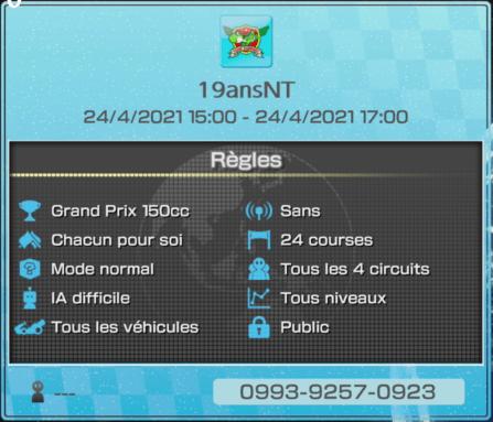 Règle tournoi Mario Kart
