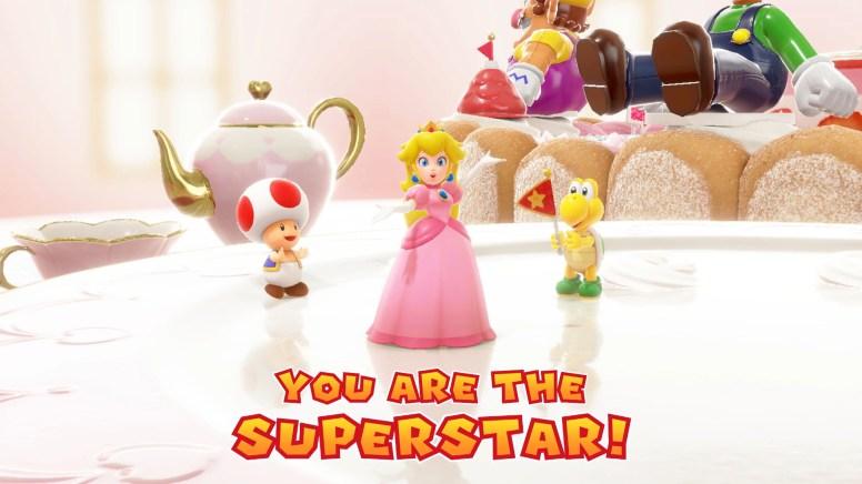 01 Switch_MarioPartySuperStars_Annnouncement_SCRN_BirthdayCakePeachSuperstar