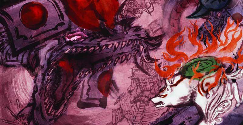 art_Okami-Orochi Battle