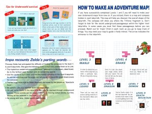 The Legend of Zelda Instruction Booklet - Bonus 1
