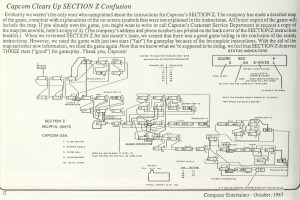 Computer Entertainer - Oct 1987 - Section Z Map
