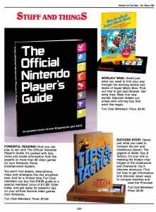 Nintendo Fun Club News | Feb-Mar 1988 Stuff
