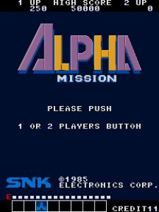 Alpha Mission (Arcade) 01