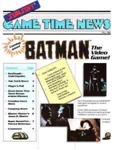 Sunsoft Game Time News 04 Fall 1989 page 1