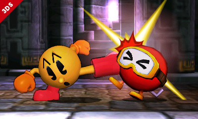 Super Smash Bros for 3DS PacMan