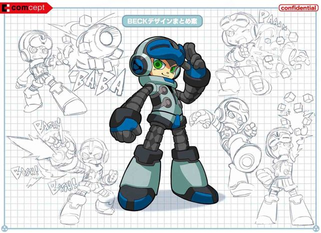 Mighty No 9 Beck Sketches