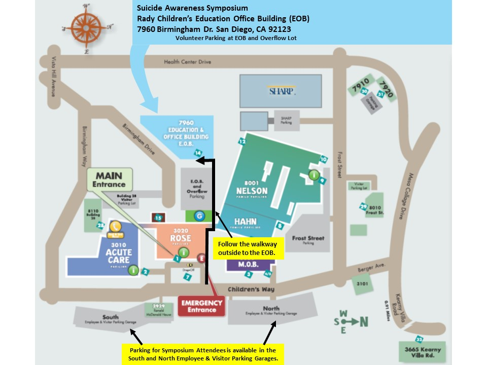 Rady Children's Hospital Exex Office Bldg map