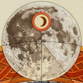 Quadrature of the Circle: Detail of the upper center moon element.