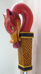 Hand carved dragon beer tap handle.