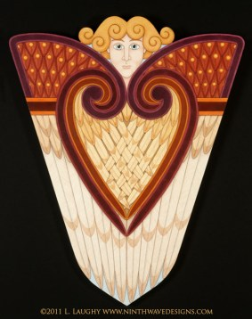 Seraphim Icon: Acrylic paint on wooden panel.