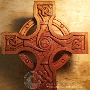 Detail of the Tree-of-Life Celtic Cross.