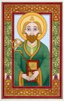 "St. Patrick - 5"" x 7.5"", acrylic inks on paper."